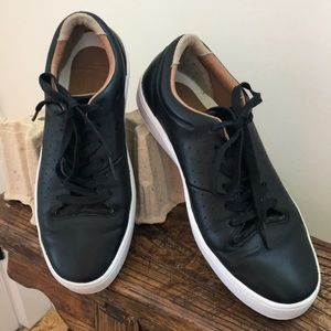 Lacoste Black Leather Sneakers